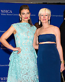 Lauren Cohan and Joanna Coles arrive for the 2015 White House Correspondents Association Annual Dinner at the Washington Hilton Hotel on Saturday, April 25, 2015.<br /> Credit: Ron Sachs / CNP