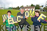WELCOME:  Members of Duagh GAA Club welcome the new developments at their GAA Grounds which also feature a new electronic scoreboard..L/r. Ann Sheehy, Ted Halpin (chairman of Field Development Committee) and Mary Ahern (Duagh GAA Club secretary).   Copyright Kerry's Eye 2008