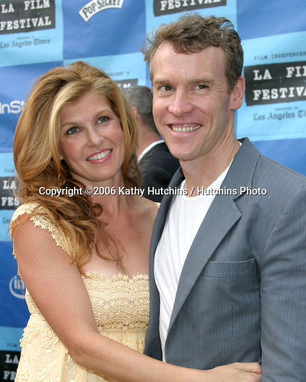 "Connie Britton & Tate Donovan.""The Lather Effect"" Premiere.Mann's Festival Theater.Westwood, CA.June 26, 2006.©2006 Kathy Hutchins / Hutchins Photo...."