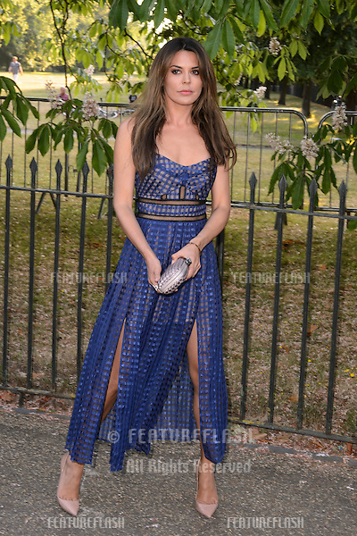 Danielle Lineker at The Serpentine Gallery Summer Party 2015 at The Serpentine Gallery, London.<br /> July 2, 2015  London, UK<br /> Picture: Dave Norton / Featureflash