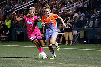 Rochester, NY - Saturday Aug. 27, 2016: Lianne Sanderson, Morgan Brian during a regular season National Women's Soccer League (NWSL) match between the Western New York Flash and the Houston Dash at Rochester Rhinos Stadium.