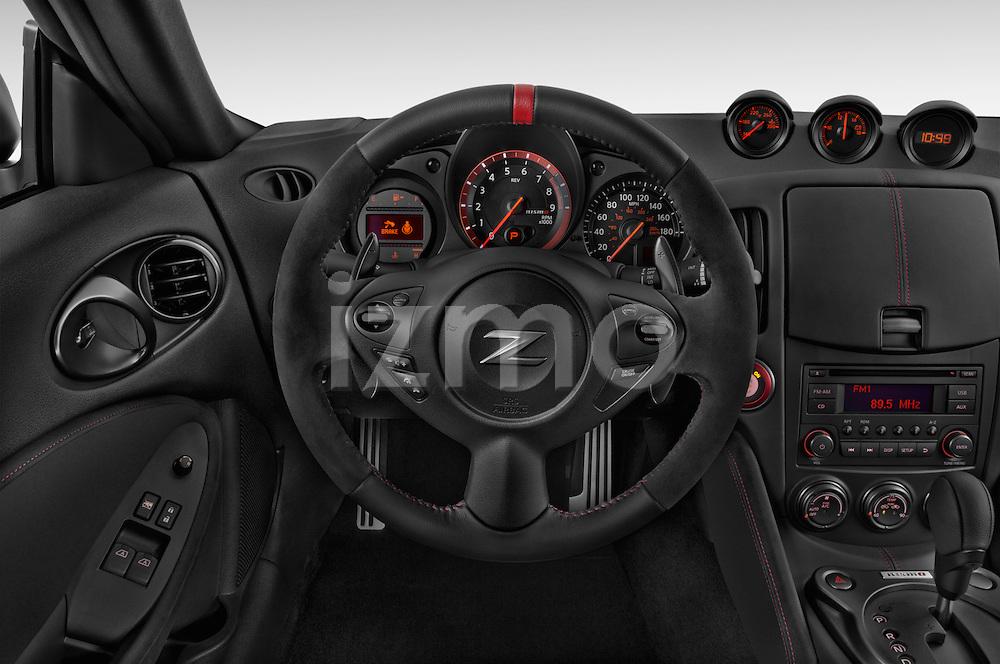 Car pictures of steering wheel view of a 2015 Nissan 370Z NISMO 2 Door Coupe Steering Wheel