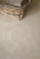 Chatham 2, a waterjet mosaic shown in honed Durango, is part of the Silk Road collection by Sara Baldwin for New Ravenna.