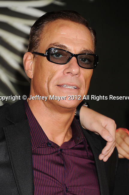 HOLLYWOOD, CA - AUGUST 15: Jean-Claude Van Damme arrives at the 'The Expendables 2' - Los Angeles Premiere at Grauman's Chinese Theatre on August 15, 2012 in Hollywood, California.