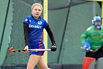 GER - Mannheim, Germany, April 22: During the German Hockey Bundesliga women match between Mannheimer HC (blue) and Club an der Alster (red) on April 22, 2017 at Am Neckarkanal in Mannheim, Germany. Final score 1-1 (HT 1-0).  Camille Nobis #8 of Mannheimer HC<br /> <br /> Foto &copy; PIX-Sportfotos *** Foto ist honorarpflichtig! *** Auf Anfrage in hoeherer Qualitaet/Aufloesung. Belegexemplar erbeten. Veroeffentlichung ausschliesslich fuer journalistisch-publizistische Zwecke. For editorial use only.