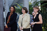 Dr. Karin Proidl and guest speakers.Austrian National Holiday Celebration with General Consul Dr Karin Proidl.Residenz of the Consul.Los Angeles, California.26 October 2009.Photo by Nina Prommer/Milestone Photo