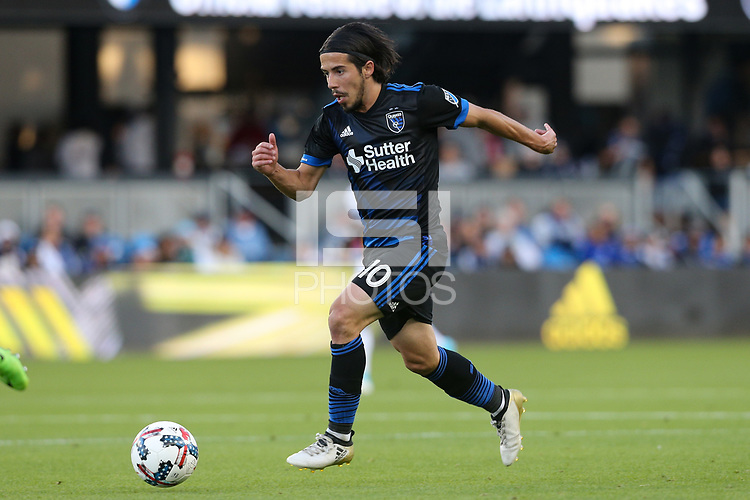 San Jose, CA - Saturday May 27, 2017: Jahmir Hyka during a Major League Soccer (MLS) match between the San Jose Earthquakes and the Los Angeles Galaxy at Avaya Stadium.