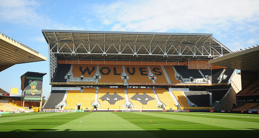 A general view of Molineux, home of Wolverhampton Wanderers<br /> <br /> Photographer Kevin Barnes/CameraSport<br /> <br /> The EFL Sky Bet Championship - Wolverhampton Wanderers v Preston North End - Sunday 7th May 2017 - Molineux Stadium <br /> <br /> World Copyright &copy; 2017 CameraSport. All rights reserved. 43 Linden Ave. Countesthorpe. Leicester. England. LE8 5PG - Tel: +44 (0) 116 277 4147 - admin@camerasport.com - www.camerasport.com