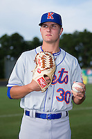 Kingsport Mets pitcher Max Wotell (30) poses for a photo prior to the game against the Burlington Royals at Burlington Athletic Stadium on July 18, 2016 in Burlington, North Carolina.  The Royals defeated the Mets 8-2.  (Brian Westerholt/Four Seam Images)