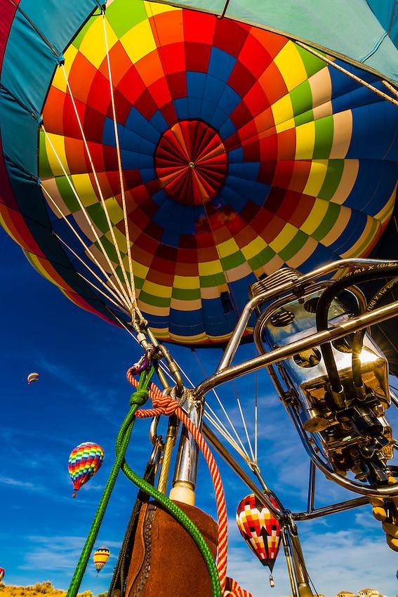 A hot air balloon envelope, Albuquerque International Balloon Fiesta, Albuquerque, New Mexico USA.