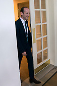 Senior Adviser to President Trump Stephen Miller walks out of the West Wing to attend President Trump's remarks that the US is withdrawing from the Paris climate accord during a Rose Garden event at the White House in Washington, DC, USA, 01 June 2017.<br /> Credit: Shawn Thew / Pool via CNP