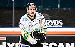 Stockholm 2014-11-16 Ishockey Hockeyallsvenskan AIK - IF Bj&ouml;rkl&ouml;ven :  <br /> Bj&ouml;rkl&ouml;vens Mark Hurtubise reagerar under matchen mellan AIK och IF Bj&ouml;rkl&ouml;ven <br /> (Foto: Kenta J&ouml;nsson) Nyckelord:  AIK Gnaget Hockeyallsvenskan Allsvenskan Hovet Johanneshov Isstadion Bj&ouml;rkl&ouml;ven L&ouml;ven IFB portr&auml;tt portrait