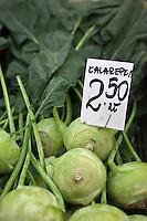 Europe/Voïvodie de Petite-Pologne/Cracovie: Chou rave-  Kalarepla au marché: Stary Kleparz