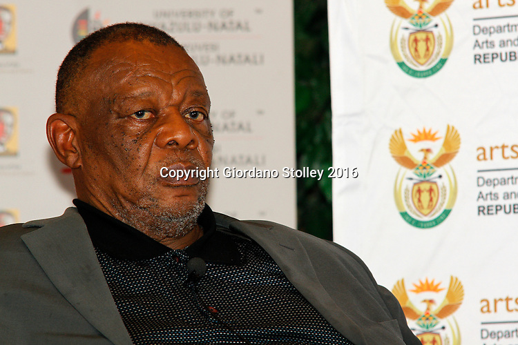 DURBAN - South African poet and writer Wally Serote after speaking on whether the country's constitution is an obstacle or catalyst for nation building at the annual CHief Albert Luthuli Memorial Lecture at the University of KwaZulu-Natal in Durban. Picture: Allied Picture Press/APP