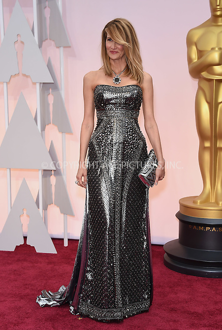 WWW.ACEPIXS.COM<br /> <br /> February 22 2015, LA<br /> <br /> Laura Dern arriving at the 87th Annual Academy Awards at the Hollywood &amp; Highland Center on February 22, 2015 in Hollywood, California<br /> <br /> <br /> By Line: Z15/ACE Pictures<br /> <br /> <br /> ACE Pictures, Inc.<br /> tel: 646 769 0430<br /> Email: info@acepixs.com<br /> www.acepixs.com