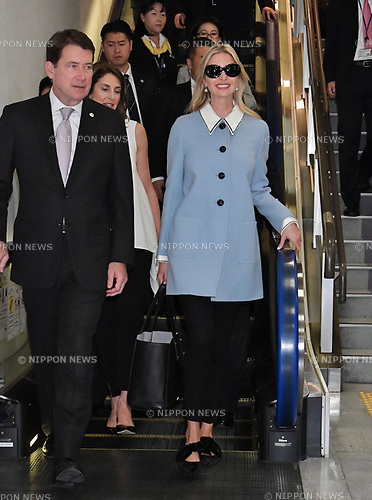 Ivanka Trump, November 2, 2017, Tokyo, Japan, Chiba : Ivanka Trump arrives at Narita International Airport in Chiba, Japan, on November 2, 2017.