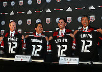 WASHINGTON, DC-JULY 10,2012:  Kevin Payne, Erick Thohir, Jason Levien and Will Chang during a D.C. United ownership press conference at the POV Lounge in the W Hotel, Washington, DC.