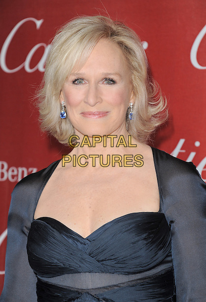 Glenn Close.attending the 2012 Palm Springs International Film Festival Awards Gala held at The Palm Springs Convention Center in Palm Springs, California, USA, January 7th 2012. .arrivals portrait headshot  black dress shrug earrings beauty .CAP/RKE/DVS.©DVS/RockinExposures/Capital Pictures.