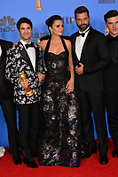 LOS ANGELES, CA. January 06, 2019: Darren Criss, Penelope Cruz, Ricky Martin & Finn Wittrock at the 2019 Golden Globe Awards at the Beverly Hilton Hotel.<br /> Picture: Paul Smith/Featureflash