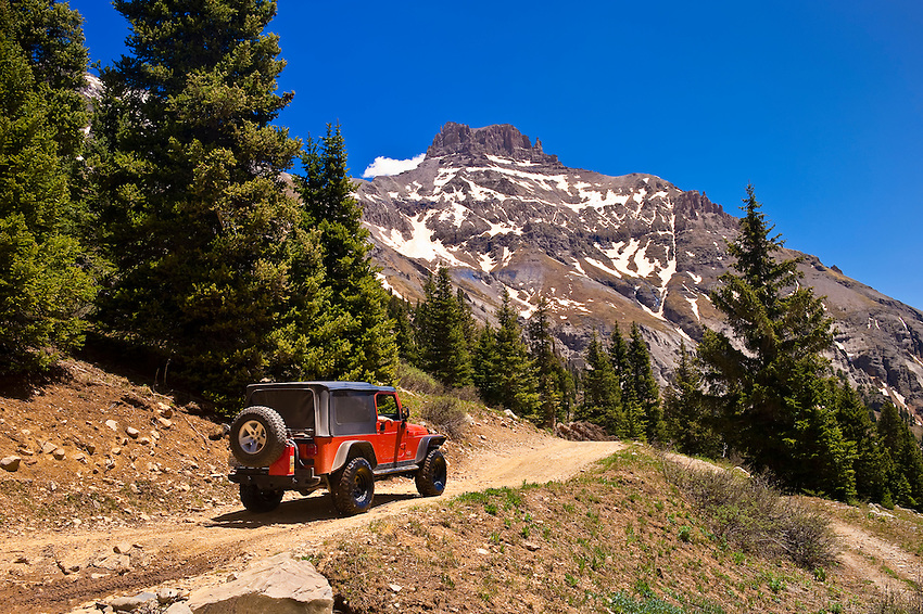 Jeeps in Yankee Boy Basin, above Ouray, Colorado USA