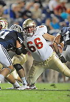 Sept. 19, 2009; Provo, UT, USA; Florida State Seminoles offensive tackle (66) Jacob Stanley against the BYU Cougars at LaVell Edwards Stadium. Florida State defeated BYU 54-28. Mandatory Credit: Mark J. Rebilas-