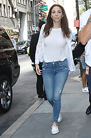 NEW YORK, NY- August 08: Whitney Cummings seen arriving at NBC's Today Show promoting her new Netflix special Whitney Cummings: Can I Touch It? on August 08, 2019 in New York City. <br /> CAP/MPI/RW<br /> ©RW/MPI/Capital Pictures