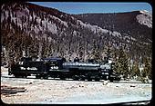 D&amp;RGW #489 K-36 - Monarch, Colorado<br /> D&amp;RGW  Monarch Branch, CO  Taken by LeMassena, Robert A. - 1954
