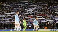 FC Schalke 04 fans show their support<br /> <br /> Photographer Rich Linley/CameraSport<br /> <br /> UEFA Champions League Round of 16 Second Leg - Manchester City v FC Schalke 04 - Tuesday 12th March 2019 - The Etihad - Manchester<br />  <br /> World Copyright © 2018 CameraSport. All rights reserved. 43 Linden Ave. Countesthorpe. Leicester. England. LE8 5PG - Tel: +44 (0) 116 277 4147 - admin@camerasport.com - www.camerasport.com