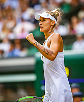 London, England, 5 July, 2019, Tennis,  Wimbledon, Womans single: Polona Hercog (SLO) tatoo<br /> Photo: Henk Koster/tennisimages.com
