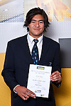 Boys Rugby Union winner Steven Luatua from Mt Albert Grammar School. ASB College Sport Auckland Secondary School Young Sports Person of the Year Awards held at Eden Park on Thursday 12th of September 2009.