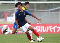 Koba Koindredi of France and Valencia in action during France Under-18 vs Brazil Under-20, Tournoi Maurice Revello Football at Stade d'Honneur Marcel Roustan on 5th June 2019