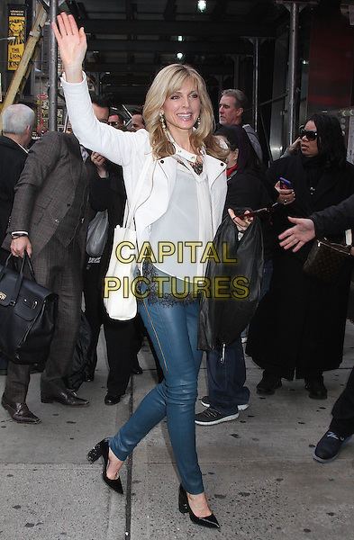 NEW YORK, NY - MARCH 8:  Marla Maples, former wife of U.S. presidential candidate Donald Trump,  arrives at Planet Hollywood for the press conference for the 'Dancing with the Stars'  season 22 cast reveal in New York, New York on March 8, 2016. <br /> CAP/MPI/RMP<br /> &copy;RMP/MPI/Capital Pictures