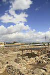 Israel, the Archaeological Park at Magdala Center by the Sea of Galilee
