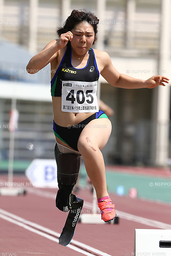 Kaede Maegawa,<br /> MAY 1, 2016 - Athletics :<br /> Japan Para Athletics Championships<br /> Women's Long Jump T42 Final<br /> at Coca Cola West Sports Park, Tottori, Japan.<br /> (Photo by Shingo Ito/AFLO SPORT)