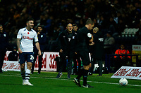 9th November 2019; Deepdale Stadium, Preston, Lancashire, England; Championship Football, Preston North End versus Huddersfield Town; Preston North End manager Alex Neil shows his displeasure with referee Geoff Eltringham as he reaches for a yellow card - Strictly Editorial Use Only. No use with unauthorized audio, video, data, fixture lists, club/league logos or 'live' services. Online in-match use limited to 120 images, no video emulation. No use in betting, games or single club/league/player publications