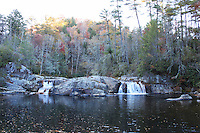 Stock photo - Linville river falls on Blue Ridge Parkway in North Carolina America.