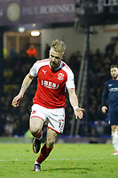 GOAL - Paddy Madden of Fleetwood Town scores a debut goal to make it 2-0 during the Sky Bet League 1 match between Southend United and Fleetwood Town at Roots Hall, Southend, England on 13 January 2018. Photo by Carlton Myrie.