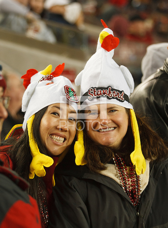 Santa Clara, CA -- December 30, 2014:  Fans during the Stanford vs Maryland Foster Farms Bowl game at Levi's Stadium Tuesday evening.<br /> <br /> Stanford won 45 to 21.