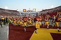 USC Trojans during game against the Washington State Cougars Saturday, September 7, 2013 at the Los Angeles Memorial Colisuem. Photo by ©Jon SooHoo/ 2013