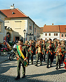 AUSTRIA, Rust, band procession for a wedding in Rust, Burgenland