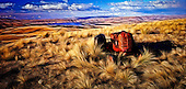 As shadows lengthen high on the Lammerlaw Ranges in Central Otago, an old tractor rests in retirement amongst tussocks not far from Lake Onslow...This New Zealand Fine Art Landscape Print, available in four sizes on either archival Hahnemuhle Fine Art Pearl paper or canvas, is printed using Epson K3 Ultrachrome inks and comes with a lifetime guarantee against fading..All prints are signed and numbered on the lower margin and come with my 100% money back guarantee on the purchase price, should you not be  completely happy with the quality of the delivered print or canvas.