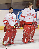 John Richmond, Jeff Zatkoff - The Boston College Eagles defeated the Miami University Redhawks 5-0 in their Northeast Regional Semi-Final matchup on Friday, March 24, 2006, at the DCU Center in Worcester, MA.