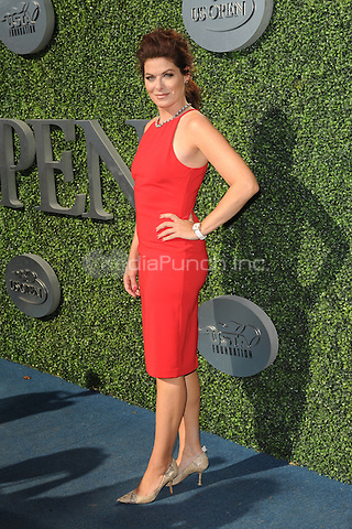 FLUSHING NY- AUGUST 29: Debra Messing arrives during opening night ceremonys on Arthur Ashe Stadium at the USTA Billie Jean King National Tennis Center on August 29, 2016 in Flushing Queens. Photo by MPI04/MediaPunch
