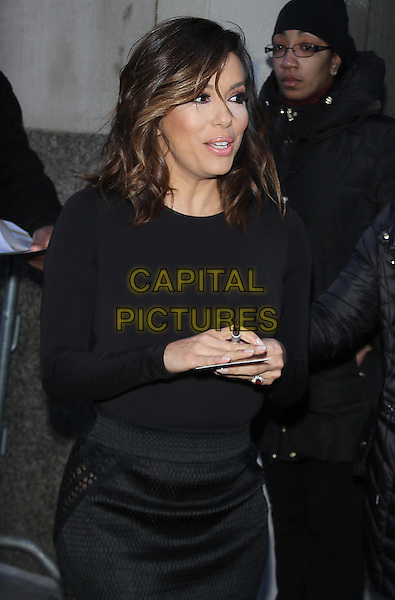 NEW YORK, NY- FEBRUARY 18: Eva Longoria at Huffpost Live promoting her NBC TV series Telenovela on February 18, 2016 in New York City. <br /> CAP/MPI/RW<br /> &copy;RW/MPI/Capital Pictures