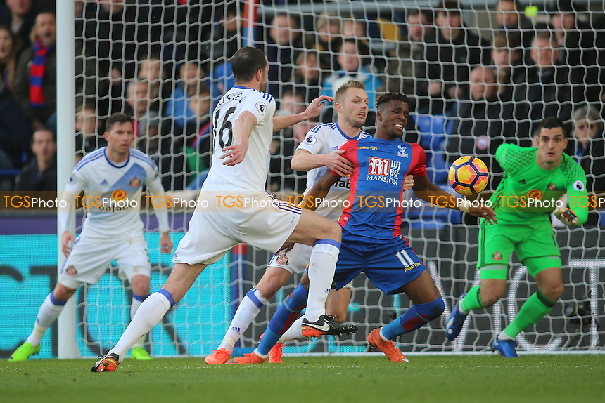 Wilfried Zaha of Crystal Palace during Crystal Palace vs Sunderland AFC, Premier League Football at Selhurst Park on 4th February 2017
