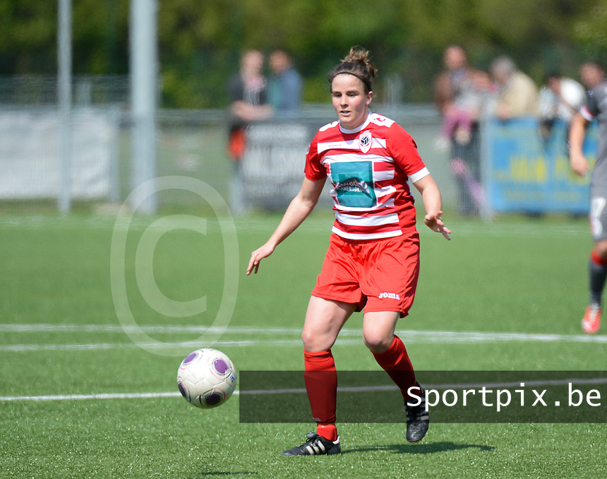 20140419 - ANTWERPEN , BELGIUM : Antwerp Marlies Verbruggen pictured during the soccer match between the women teams of RAFC Antwerp Ladies  and Standard Femina  , on the 24th matchday of the BeNeleague competition on Saturday 19 April 2014 in Deurne .  PHOTO DAVID CATRY