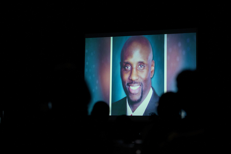 The 2016 Ebony Bobcat Network's Trailblazer Award was posthumously awarded to Rex Crawley during the 2016 Black Alumni Reunion gala dinner held at the Baker Center Ballroom on Friday, September 16, 2016.