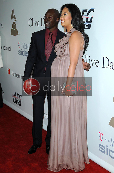 Djimon Hounsou and Kimora Lee<br />