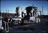 D&amp;RGW spreader #OU at Chama.<br /> D&amp;RGW  Alamosa, CO