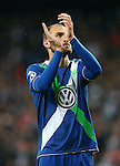WfL Wolfsburg's Bas Dost dejected after Champions League 2015/2016 Quarter-finals 2nd leg match. April 12,2016. (ALTERPHOTOS/Acero)